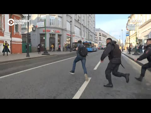 Задержания в центре Москвы