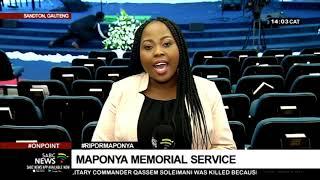 #RipDrMaponya | Maponya Memorial Service