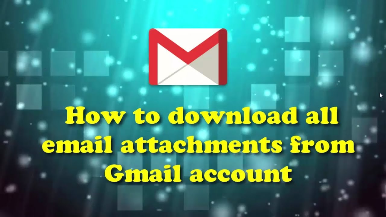 How to download all email attachments from gmail account youtube how to download all email attachments from gmail account ccuart Images