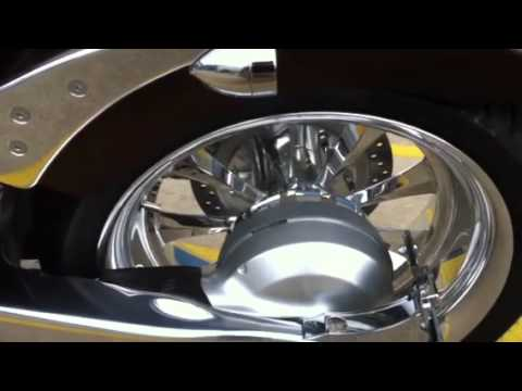2011 Honda Fury with FSD Hot Rod Pipes & Sumo X 250 Fat Tir - YouTube