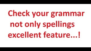Grammar Checking Software in WORD ,Gmail ,FB --more & more features
