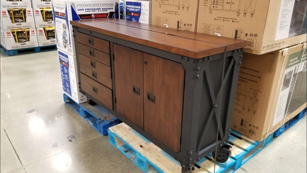 Costco Whalen 63in Industrial Wood Metal Tool Cart 499
