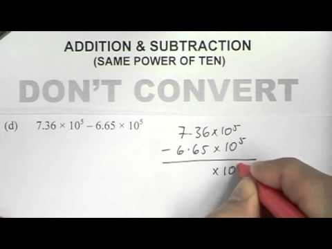 standard form subtraction Standard Form (Addition and Subtraction)