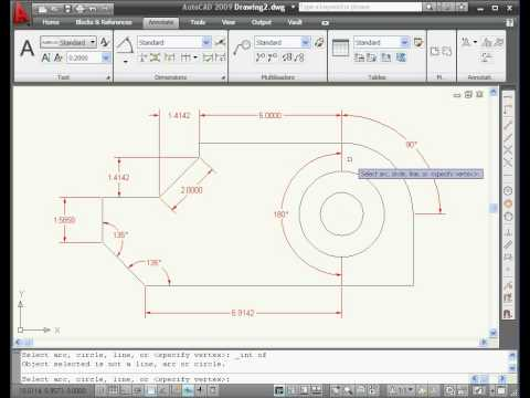autocad 2009 tutorial dimensions