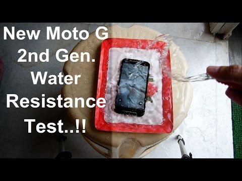New Moto G 2nd Gen. Water Resistance Test | Water Proof Test :D