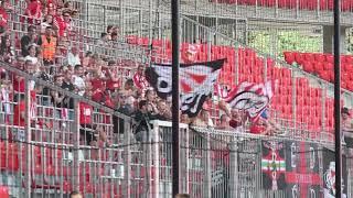 A diósgyőri ultrák a DVSC-DVTK meccsen - haon.hu