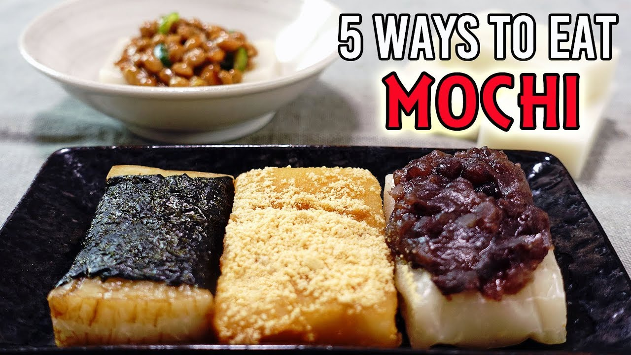 MOCHI 5 WAYS (EASY RECIPES) - YouTube