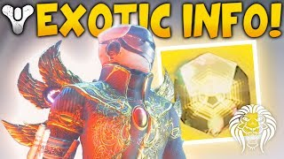 Destiny 2: EXOTIC RARITY INFO! New Drop Rates, Three of Coins, Exotic Quests & New Armor