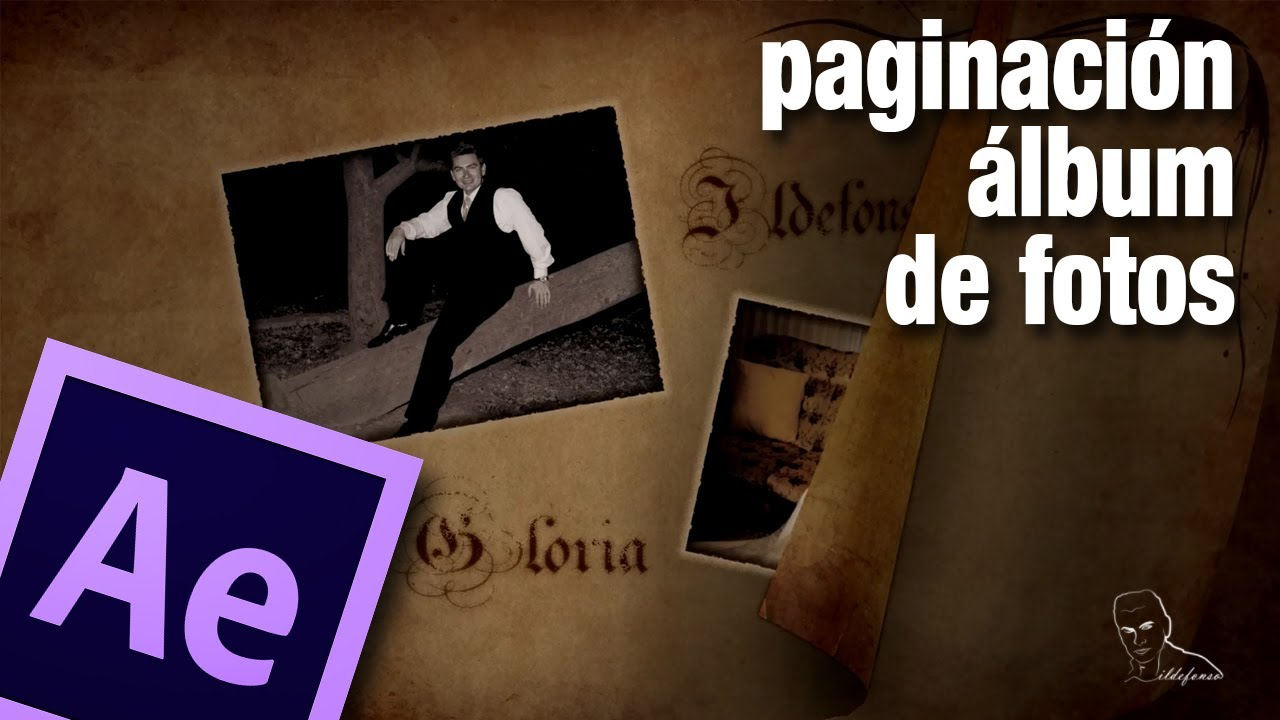 Tutorial after effects paso de p gina de album de fotos by ildefonsosegura youtube - Album de fotos ...