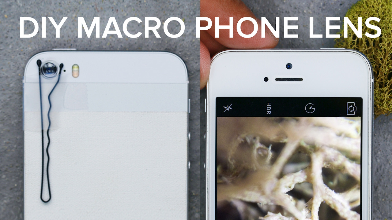 DIY Macro Phone Lens