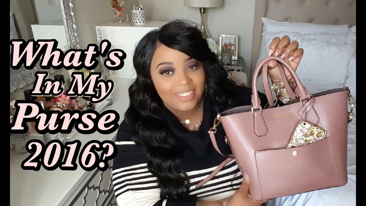 703cc892ccfcc4 What's In My Purse 2016? - YouTube