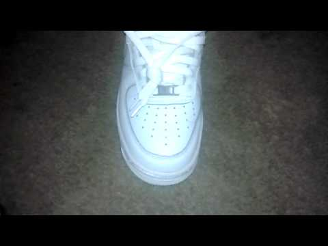 """How to clean your white air forces ones """"NEW"""" """"best video""""."""
