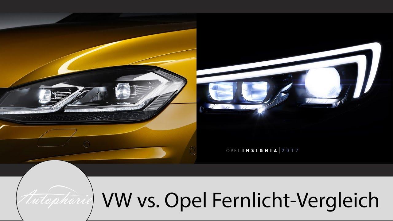 volkswagen led scheinwerfer vs opel matrix led pro und. Black Bedroom Furniture Sets. Home Design Ideas
