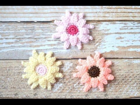 Crochet Gerbera Daisy Tutorial Youtube