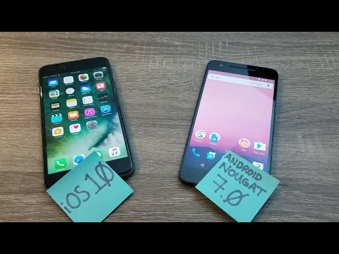 Comparing iOS 10 and Android Nougat 7.0 with the iPhone 6S Plus and the Nexus 6P