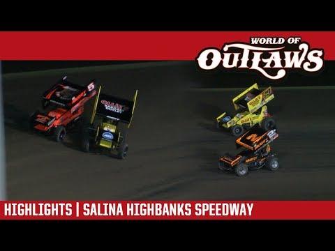 World of Outlaws Craftsman Sprint Cars Salina Highbanks Speedway October 21, 2017 | HIGHLIGHTS