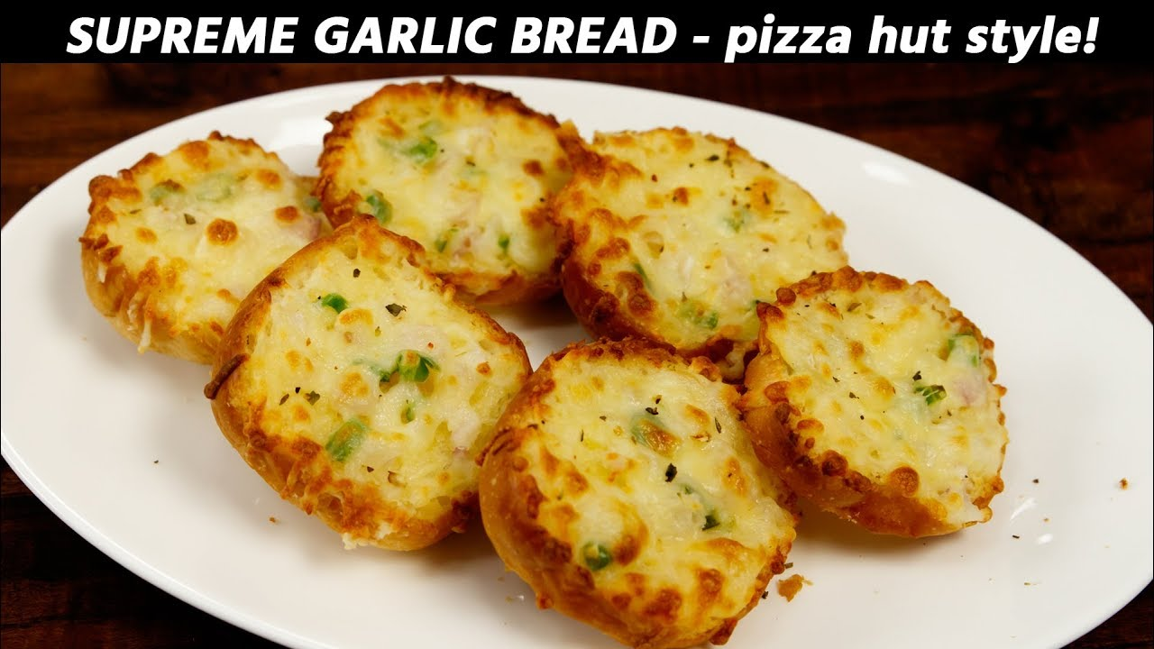 Supreme Garlic Bread - PIZZA HUT Style Recipe - CookingShooking