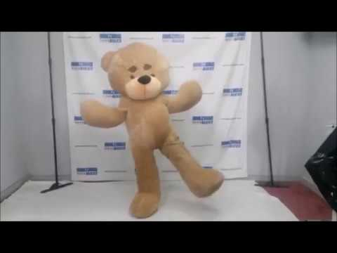Giant custom teddy bear costume test  amazing mascots & Giant custom teddy bear costume test : amazing mascots - YouTube