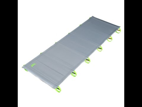 Ultra Light Compact Folding Camping Cot ~ Packs In Your Back