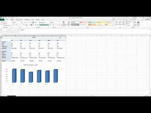 how to make a budget with a graph in microsoft excel budget ss