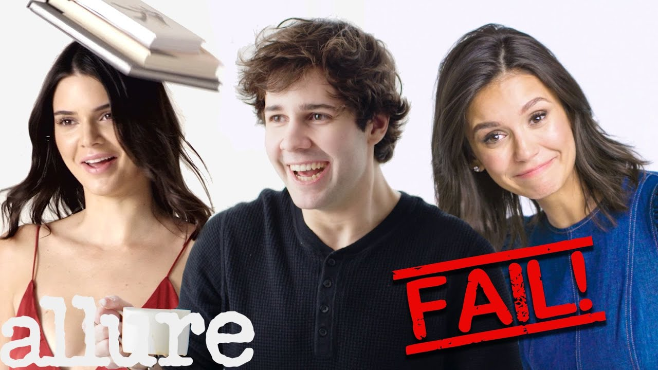 David Dobrik, Kendall Jenner and More Celebs Try 9 Things: Bloopers   Allure