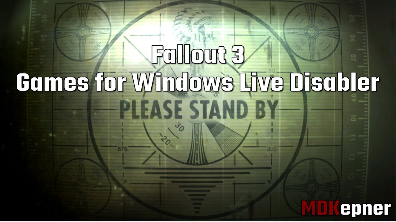 Fallout 3 Games For Windows Live Disabler Youtube