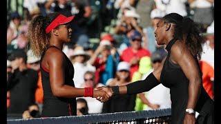 Naomi Osaka vs Serena Williams, magnificent contest, powerful bass game