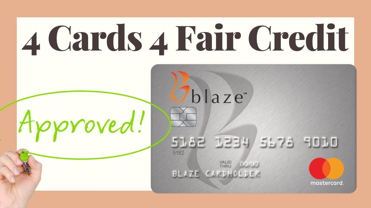 Credit Cards For Fair Credit >> Fair Credit Easy Credit Card Approval Blaze Mastercard Review