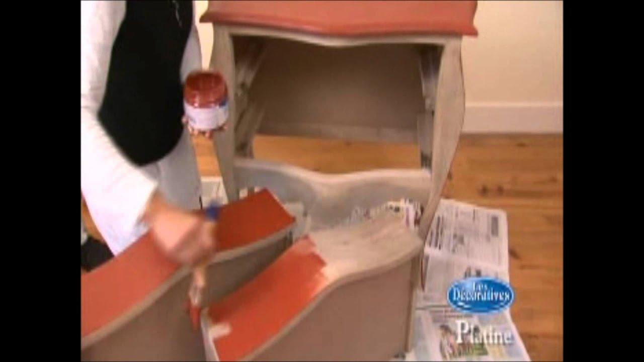 Como aplicar pintura efecto metalizado en un mueble  YouTube
