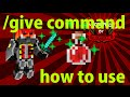 How To Use /Give Command (Attributes, Enchants, CanDestroy, Names and Potions)