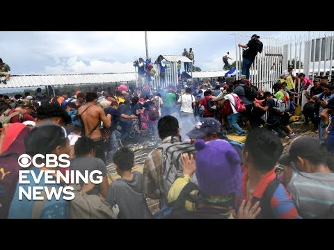 Migrant caravan faced riot police and pepper spray on journey to U.S.