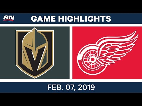 NHL Highlights | Golden Knights vs. Red Wings - Feb. 7, 2019