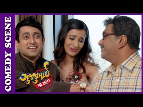 Gujjubhai The Great Comedy Scene - Gujjubhai Meets Bollywood Heroine – New Gujarati Movie