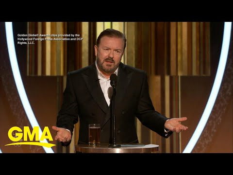 Golden Globes host Ricky Gervais pokes fun at night's biggest stars | GMA