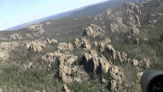 Helicopter ride at Mt. Rushmore