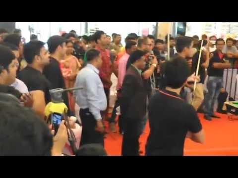 Pankaj Advani and Aditya Mehta at Inorbit mall - Hderabad