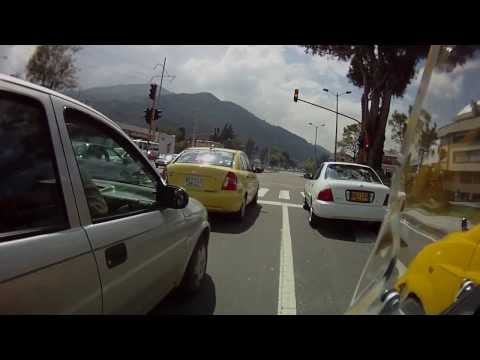 Ride to Office on BMW G 650 XCountry Bogotá Colombia