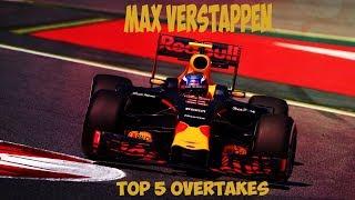 MAX VERSTAPPEN // TOP 5 OVERTAKES