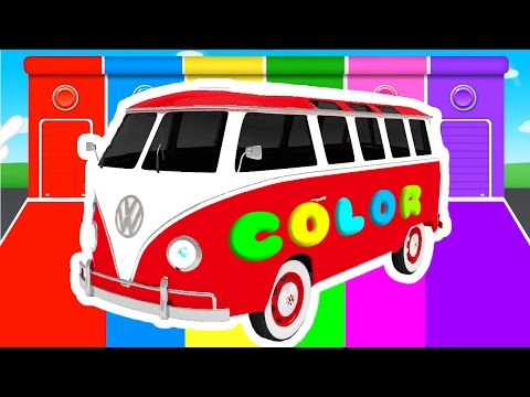 Thumbnail: FUN BUS and COLOR for Kids - Cars Superheroes for babies in Learning Educational Video
