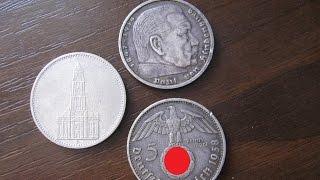 Монеты Германии  1935 1939  Цена монет 5 марок Гинденбург, кирха Нумизматика(, 2015-09-25T10:51:37.000Z)
