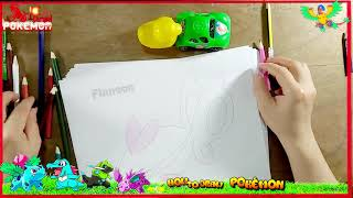 How to Draw Finneon Pokemon Rubber Duck for Baby Drawings and Coloring book. Learning Colors Kids