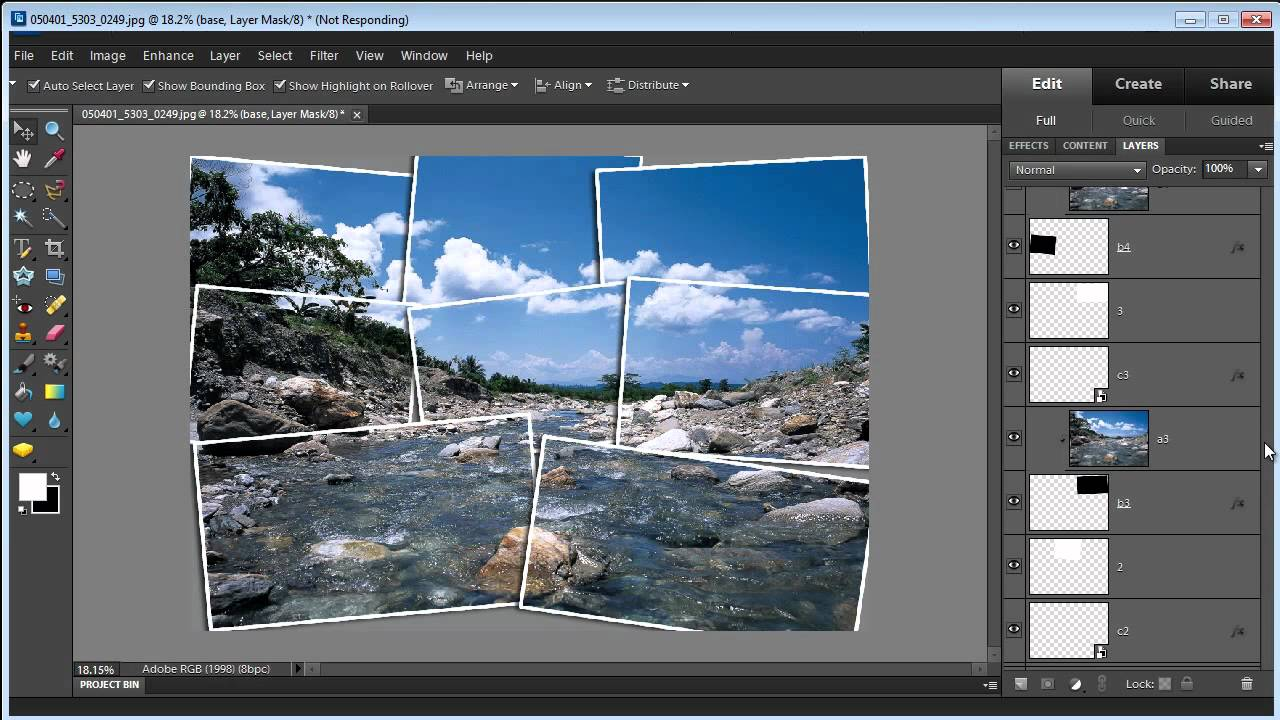 photoshop elements 13 collage tutorial