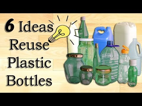 6 great ideas to reuse waste plastic bottles recycle for Craft ideas from waste plastic bottles