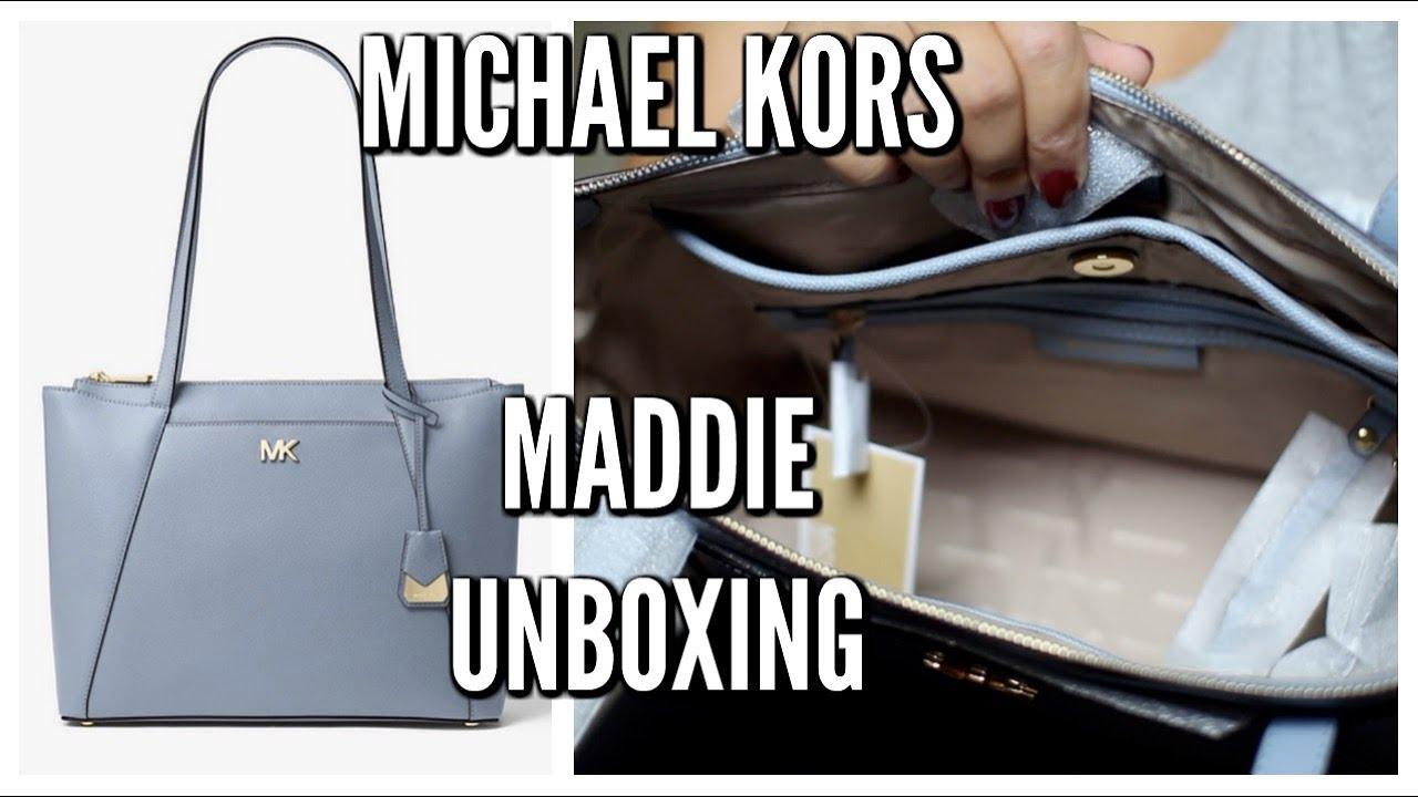 de4dbdbf28d5 Michael Kors Maddie Tote Unboxing - YouTube
