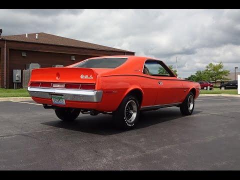 1970 AMC Javelin SST Mark Donohue in Big Bad Orange & Engine Start - My Car Story with Lou Costabile