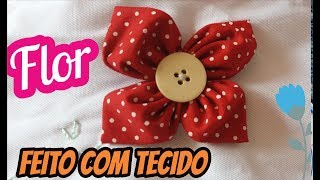 Flor de tecido -tissue's Flowers – DIY- PAP -Tutorial