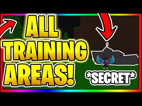 *ALL* TRAINING AREAS LOCATIONS IN ORDER! Roblox Anime Fighting Simulator