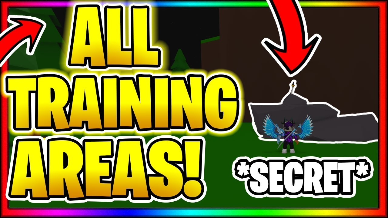 All Training Areas Locations In Order Roblox Anime Fighting