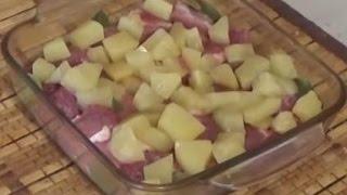 Свинина запеченная с ананасами