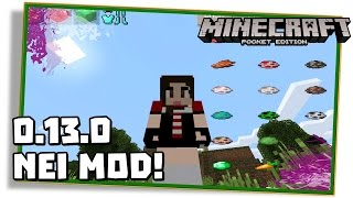 Minecraft PE 0.13.0: MOD NOT ENOUGH ITEMS DE PC NO MCPE! -  (NEI | Pocket Edition | MCPE)